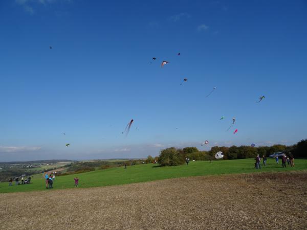 Drachenfliegen auf dem Geider Berg, Oktober 2014